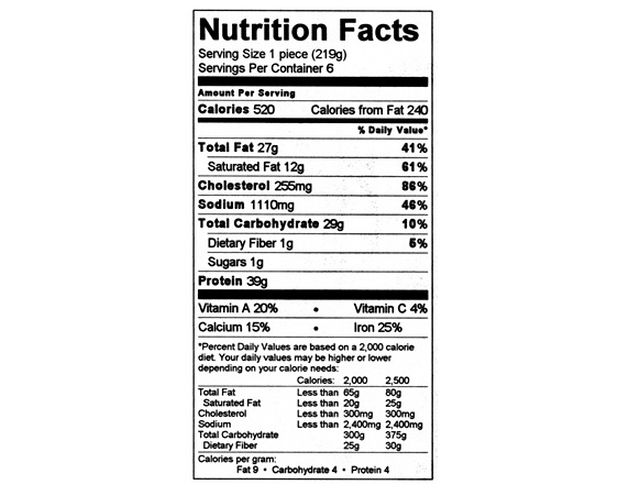 Nutrition Facts Label Web